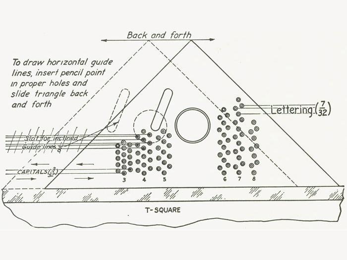 Braddock-Rowe Lettering Triangle