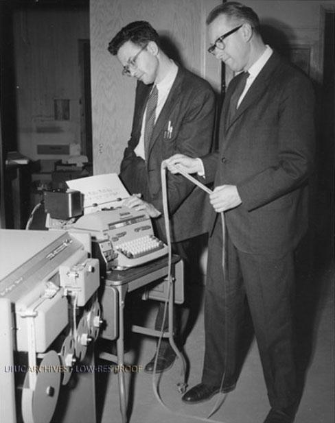 Cecil Effinger (right) with Lejaren Hiller