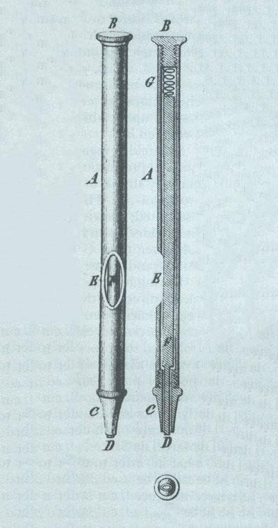 Device for laying out identical note heads on a lithographic stone.
