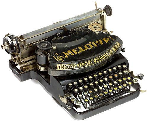 The Melotyp Music Typewriter, c.1937