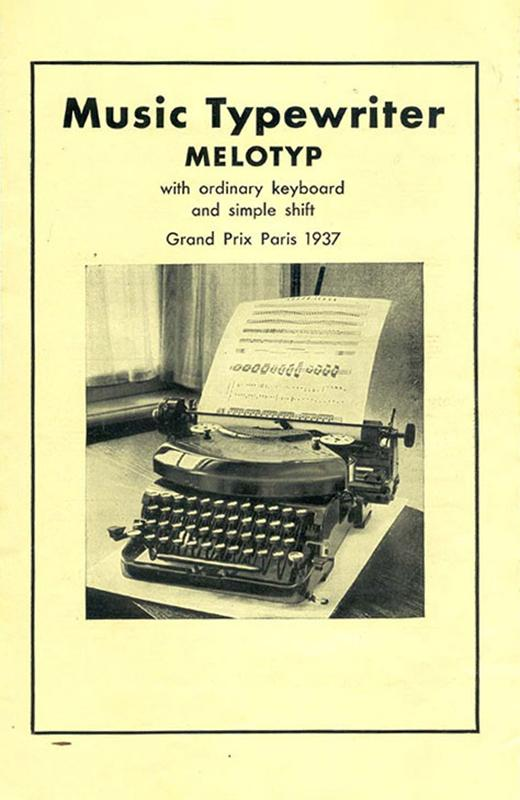 Melotyp pamphlet (cover)