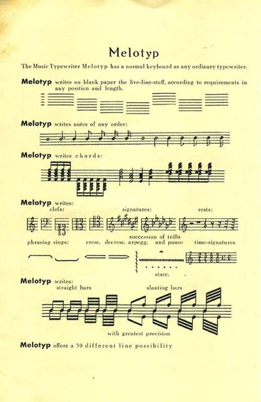 Melotyp pamphlet (inside)