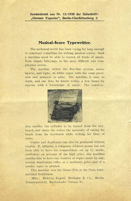 Melotyp pamphlet (leaflet in pamphlet)
