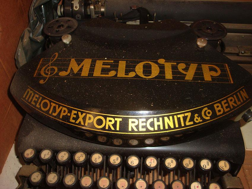 Melotyp image sent to Music Printing History