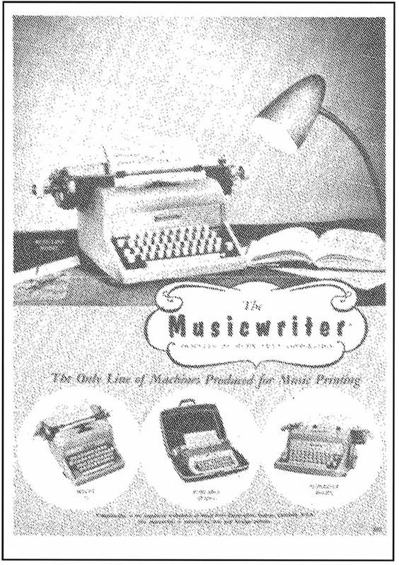 Brochure for the Musicwriter line of musical typewriters, by the Music Print Corporation of Boulder, Colorado in the 1960's.